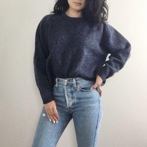 Vintage Wool Sweater - Purple Multi